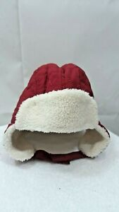 Old Navy Baby Unisex Red Heart Quilted Sherpa Lined Trapper Hat