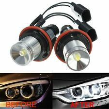 PAIR LED HALO RING ANGEL EYE MARKER SIDE LIGHT BULBS FOR BMW E39 E64