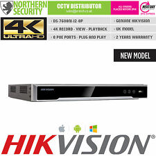 4K UHD H.265 ULTRA HD HIKVISION 8 CHANNEL 8CH 8 POE 12MP NVR ONVIF CCTV RECORDER
