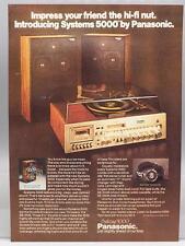 Vintage Magazine Ad Print Design Advertising Panasonic Systems 5000 Stereo