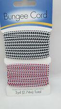 Darice Jewlery Designer 3 Yards Round Bungee Cord - Black/White & Patriotic