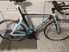 Focus Chrono size M carbon triathlon teal black white