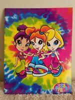 Lisa Frank Tie Die Hippie Girls Folder Vintage 2001 Colorful