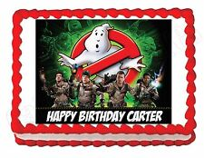 Ghostbusters edible party cake topper decoration frosting sheet image