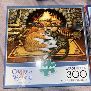 Buffalo Games CHARLES WYSOCKI 300 LARGE PIECE JIGSAW PUZZLE ALL BURNED OUT