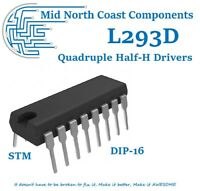 1~5pc L293D L293 Push-Pull Four-Channel Motor Half H Driver IC DIP-16 STMicro
