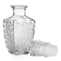 Glass Whiskey Liquor Wine Drinks Decanter 250ml Crystal Bottle Wine Carafe H2H9