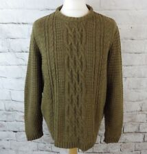 "ASOS jumper size M chest 46"" brown khaki cable knit fisherman relaxed fit"