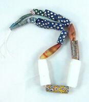 Vtg 2 Ancient African Trade Beads, Idar Obsterstein, Venice, Millefiori Bohemian