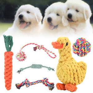 6 Stk Hunde Spielzeug Set Kauspielzeug aus Seil Interaktives Pet Dog Welpen Toy