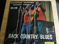 "33 tours "" BACK COUNTRY BLUES "" BROWNIE McGHEE / SONNY TERRY JAZZ"