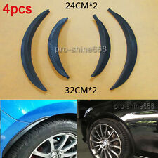 4x Carbon Wrap Wide Body Fender Flares Lip Fit For Mazda Subaru Wheel Wall Auto