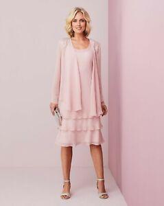 BNWT Nightingales Layered Dress and Jacket Blush UK 12 RRP £160