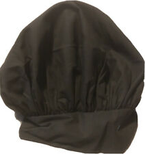 New Chef Design Adult Adjustable Elastic Bakers Chef Hat Large Black Cooking Hat