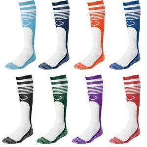 Evoshield Knee-High Moisture Wicking Baseball//Softball Game Socks Orange L