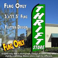 THRIFT STORE (Green) Flutter Feather Banner Flag (11.5 x 3 Feet)