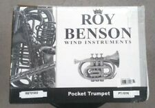 Roy Benson PT-101K  Black Lacquered Finish Pocket Trumpet New in original box