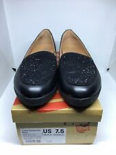 NEW FitFlop Crystal Sneakerloafer Slip-On Shoes WOMENS SZ 7.5 Black  $98.