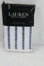Ralph Lauren Jensen Stripe Cotton Percale STANDARD Pillowcases White/Blue $70