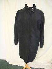 Ladies Coat M&Co UK 20 black polyester/viscose, zip, stand-up collar, smart 8015
