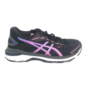 Asics GT-2000 7 Running Shoes Womens Size 8  1012A554 Black Pink White Sneakers