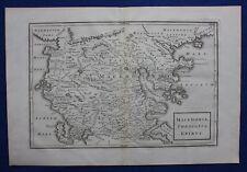 Original antique map GREECE, 'MACEDONIA THESSALIA, EPIRUS', Cellarius 1799