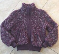 Canada TUNDRA Pure Virgin Wool Purple Women's Winter Bomber Jacket Retro S Small