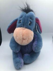 Disney Store Winnie The Pooh Eeyore Blue Donkey Plush Kids Stuffed Toy Animal