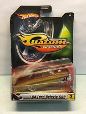 Diecast Hot Wheels '64 Ford Galaxie 500 Custom Classic 1:50 MInt on Blister Rare