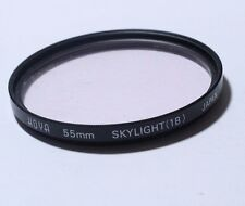 Used Lens Filter: B21942 Hoya 55mm Skylight (1B) JAPAN - Free shipping