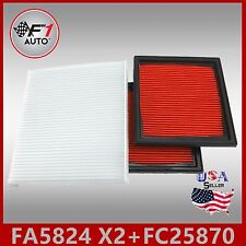 FA5824(X2PCS) FC25870 PREMIUM ENGINE & CABIN AIR FILTER for 11-12 G25 08-13 G37
