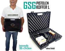 GSG Pistolenkoffer L | 36,5 x 27 cm Waffenkoffer Kunsstoff Revolverkoffer |Jäger