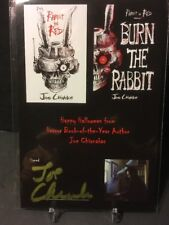 Autographed 4x6 Author Joe Chianakas RABBIT IN RED/BURN THE RABBBIT w/download