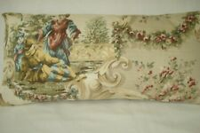 """Oriental Toile Lumbar Accent Decorative Throw Pillow Cover 9"""" x 17"""" Beige shades"""