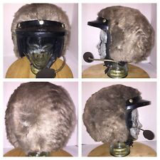VTG FUR Motorcycle Helmet ALL OVER BELL Marushin Kogyo 1986 Speakers Microphone