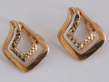 14 Carat Rose Gold Precious Metal Earrings without Stones