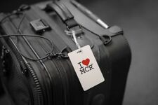 Pack of 4 Smart Luggage Tags (I Love MCR) Web-enabled with Smaller Keys/bag tag