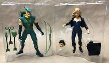 Green Arrow & Black Canary Hard Traveling Heroes Lot DC Direct Loose Complete