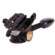 Pan Tilt Ball Head QR Plate For Camera Tripod Manfrotto Velbon Gitzo Arca-Swiss