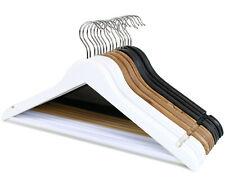 1 - 100 Stück Kleiderbügel aus Ahornholz mit rutschfesten Hosensteg in 3 Farben