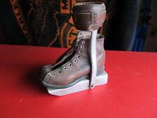 Antique Childs Metal & Leather Leg Brace Shoe Handicap Polio Medical Device