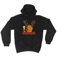 Funny Hoodie - Brewdolph - Birthday Joke tee Gift Novelty hooded top HOODY