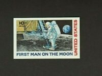 USPS INTAGLIO PRINT OF APOLLO 1969 10c FIRST MAN ON THE MOON  *FREE SHIPPING*