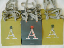 """Lot 100 Monogram """"A"""" Bags Anthropologie New Paper Shopping Gift Bags"""