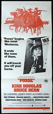 POSSE Original Daybill Movie poster KIRK DOUGLAS Bruce Dern Western James Stacy