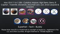 Mac OS X 11-in-1 USB – Mac OS X 10.5 - 10.15 - Mavericks to Catalina