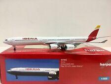 Herpa Wings 1:500 Iberia Airbus A340-600 527804 EC-LEV Rare