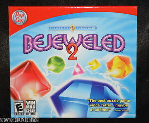 Bejeweled 2 PC Puzzle Game New/Sealed PopCap Games Hard to Find Retail Version