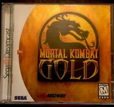 SEGA DREAMCAST MORTAL COMBAT GOLD-YELLOW DISK-TESTED- IN VERY GOOD CONDITION!