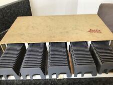 Leitz box with 5 Universal Slide Magazines, for 30 Slides